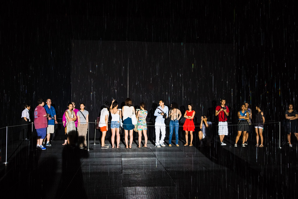 Waiting for the MoMA's Rain Room