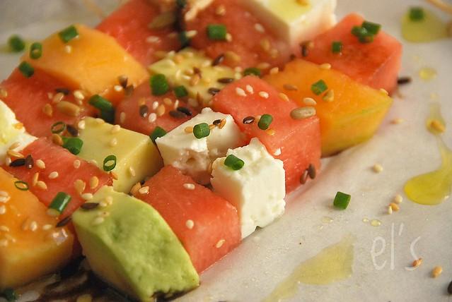 Salade estivale sucrée salée