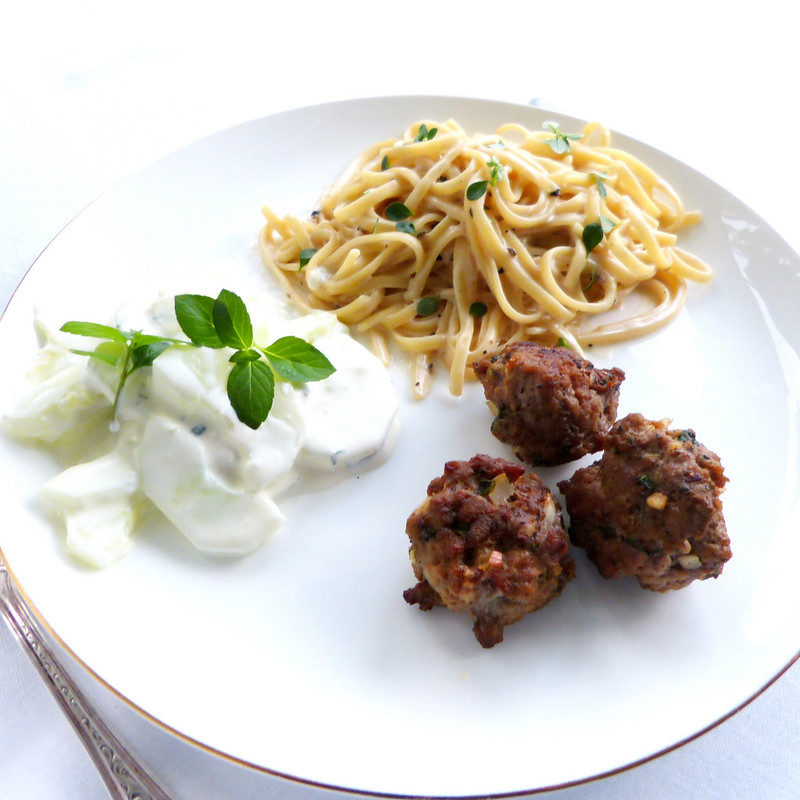 Minted Lamb Meatballs