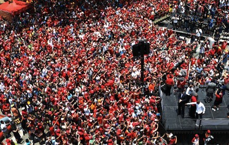 July 13, 2013 - A reported crowd of 10,000 people show up for the Dwight Howard welcome rally