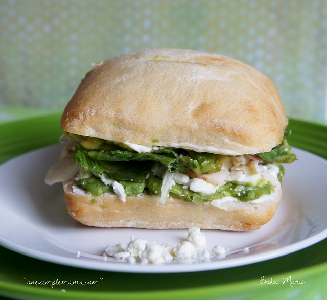 Feta & Avocado Turkey Sandwich {on Ciabatta}