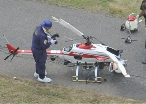 日男子用遥控直升机洒农药被螺旋桨切头身亡(图)