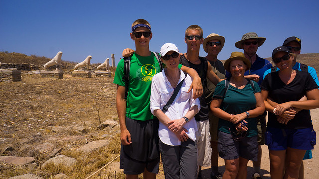 In the Sacred Lake Area on Delos