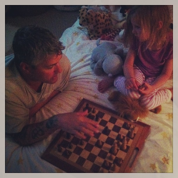 A little pre-bedtime chess