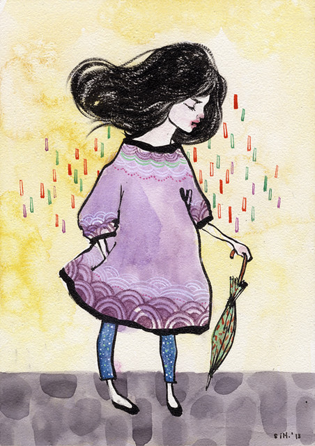 "Nartaka 12. 5"" x 7"". Ink & Watercolor on Aquabord (Masonite). © 2013."