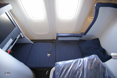 ANA Business Class Seat in Full-flat Mode