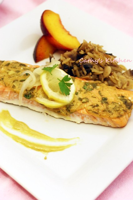 檬香芥末烤鮭魚 Baked Salmon with Lemon and Mustard  2