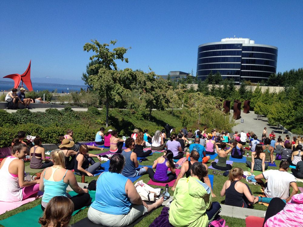 Free Yoga at Olympic Sculpture Park