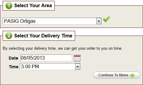 Foodie.ph Delivery Area and Schedule