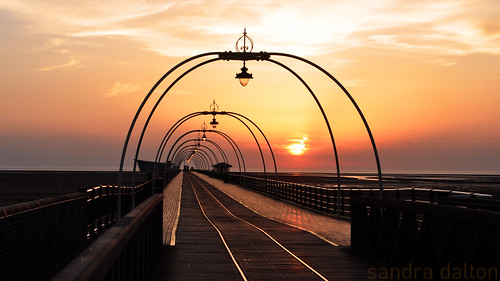 Sunset and Southport Pier