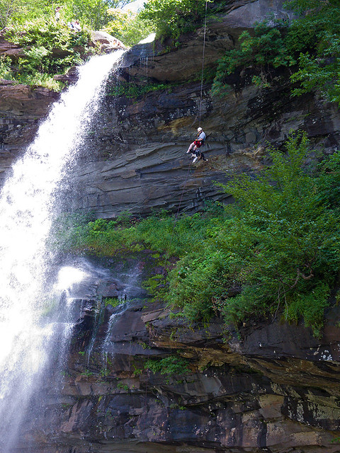 Kaaterskill Falls: K-9 on Rappel
