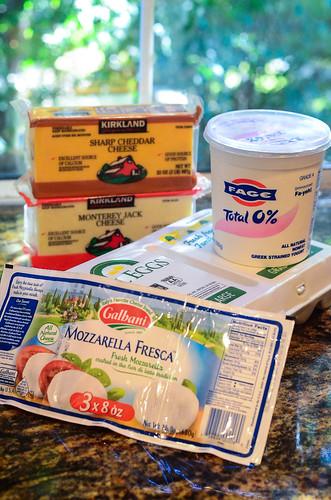 Cheese, yogurt and eggs.
