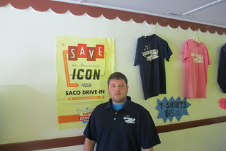 Ry Russell of the Saco Drive-in