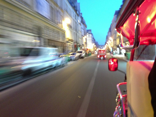 Tuk Tuk through the streets of Paris