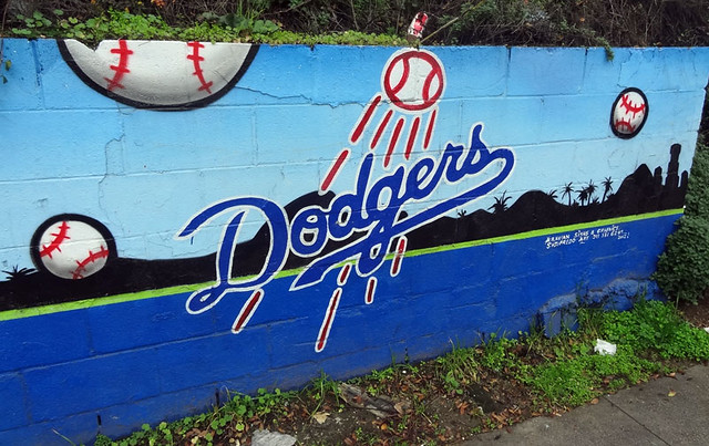 The street art of los angeles quirky travel guy for Dodger stadium wall mural