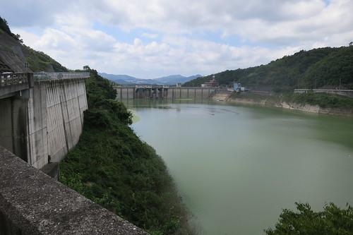 一庫ダム、台風後だけあって結構水位あるな