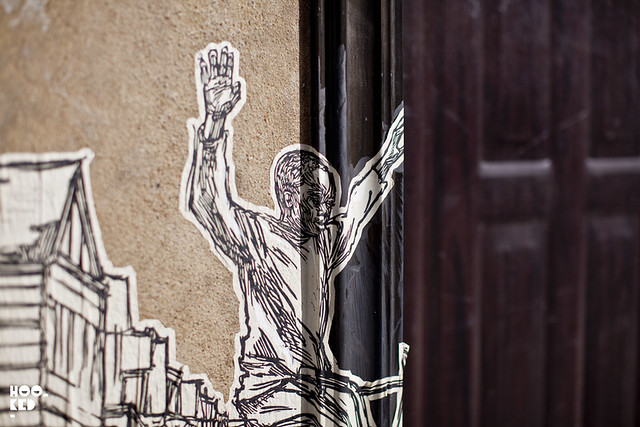 London Street Art featuring street artist Swoon, Photo ©Hookedblog