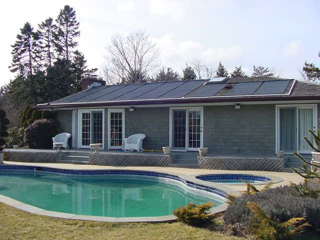 residential solar pool heating system