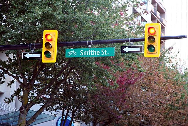 smithe street sign