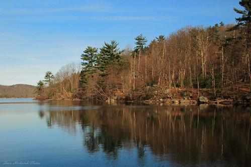 trees lake newyork mountains water canon reflections rocks powershot g12 smack53 sterlingforestpark