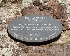 Photo of William the Conqueror black plaque