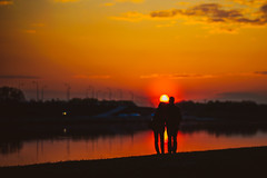 Couple and Sunset #107/36