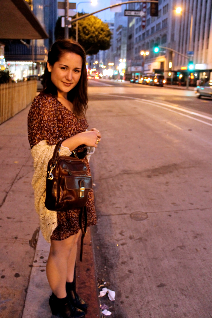 how to style a floral dress at night