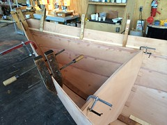 IMG_4976 - Port Hadlock WA - Northwest School of Wooden Boatbuilding - Contemporary - Drascombe Longboat for NOLS Mexico - bulkheads being installed