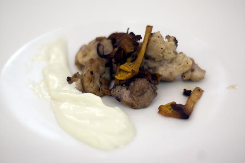 Molejas com emulsão de bacalhau, André Magalhães
