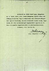VI/1. Sajó István kérelme: mentesítő okiratot kér, mert a kivételezetteknek nem kellett a gettóba beköltöznie. 6.5_006