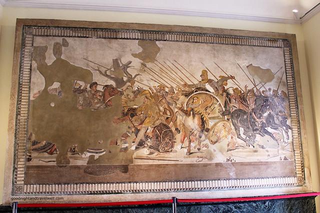 Napoli - Museo Archeologico La battaglia di Alessandro