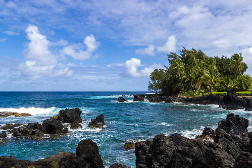 ocean travel blue trees light sky sun sunlight color tree beach nature colors yellow clouds canon island photography hawaii lava photo spring rocks flickr surf photographer shadows image ngc palm hana tropic soe geodata abigfave