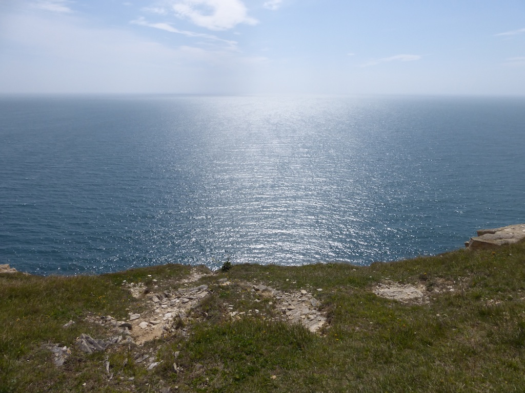 View into sun From the west side of the Isle of Portland