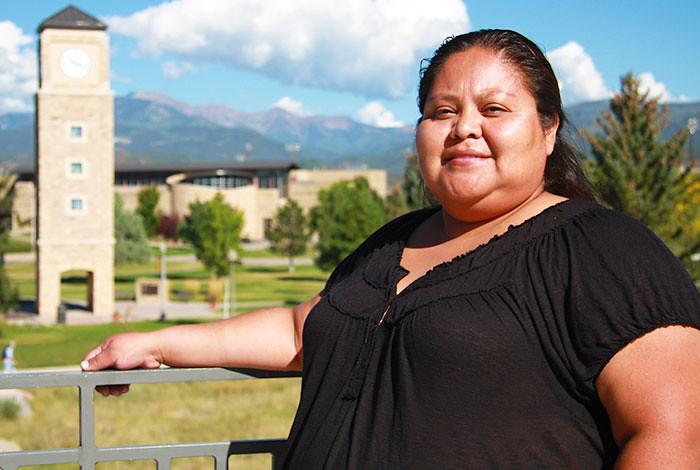 Sainie Atencio of Santo Domingo Pueblo, one of last year's Northern New Mexico Tribal Business Scholarship recipients.