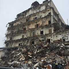 demolition(0.0), rubble(1.0), earthquake(1.0), residential area(1.0), disaster(1.0),