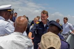 Meet and greet as EUCAP Nestor delegates, Maritime Police Unit and Somali Coast Guard were received on HNLMS Tromp
