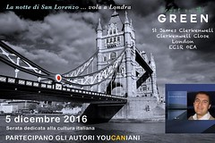 "#lanottedisanlorenzo will arrive at the #CryptOnTheGreen in #London next Dec. 5th! Come and visit ""La marca del gusto"", an extraordinary exhibition about Italian products! And about Italian freelance authors! Free entry! Save the date!  «La notte di San L"