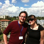 On the roof of the iHub in Nairobi