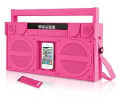 iP4 Portable Boombox Pink