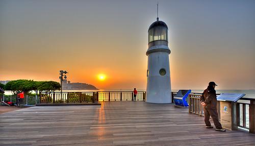 sunrise busan hdr haeundaebeach dongbaekpark