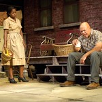 John Beasley (Troy Maxson) and Crystal Fox (Rose Maxson) in the Huntington Theatre Company's production of Fences. Part of the 2009-2010 Season