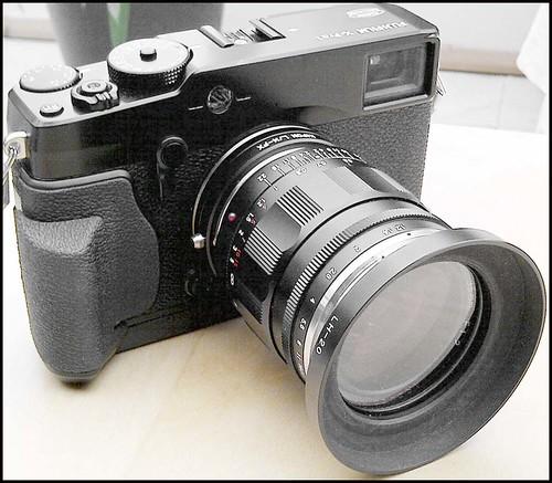 Fuji X-Pro 1 Voigtlander 35mm f/1.2 Nokton Kipon LM > FX adapter