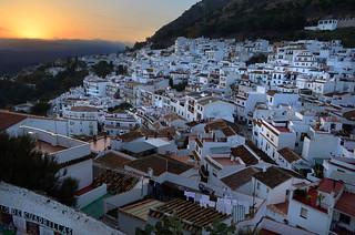 Mijas at Sunset, Costa Del Sol, Spain