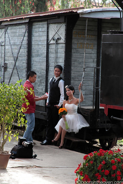Ga Đà Lạt is a great place for wedding photos