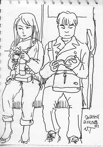 帰りの電車内 In the train of return