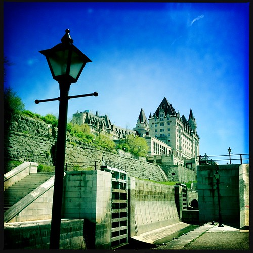 The Chateau and the Rideau Canal locks