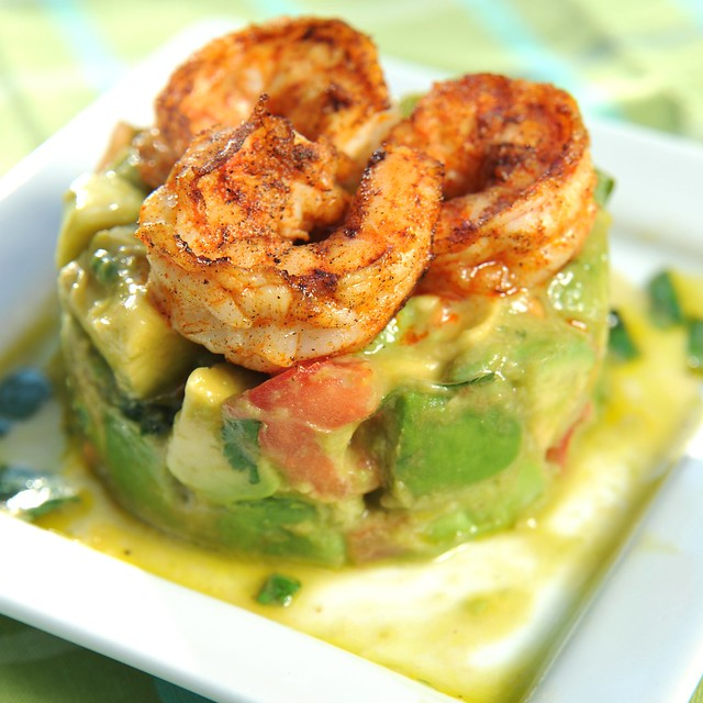 Square Shrimp Avocado Salad