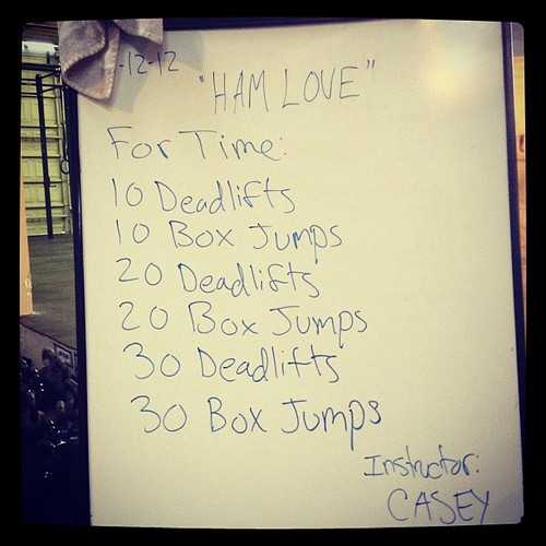 Nothing like some deadlifts and box jumps to get your heart pumping in the morning.