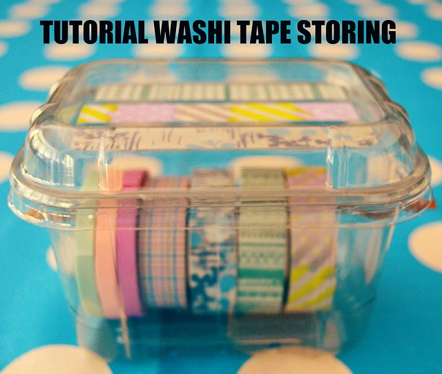TUTORIAL WASHI TAPE STORING