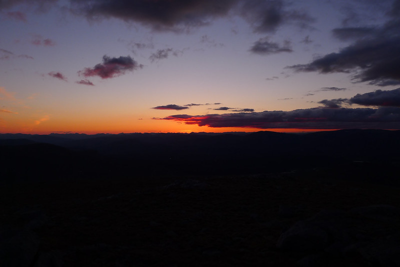Sunset, Mountain Silhouette